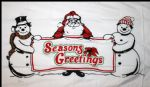 CHRISTMAS SEASONS GREETINGS - 5X3 FLAG